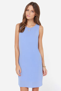 The Bee's Neon Periwinkle Blue Shift Dress at Lulus.com!