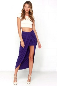 Scenic Drive Indigo Wrap Maxi Skirt at Lulus.com!