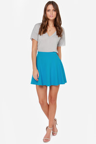 Dolly Pardon Me Blue Skirt at Lulus.com!