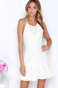 It's a Hit Ivory Lace Dress at Lulus.com!