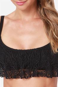 Volcom Crochella Black Lace Bikini at Lulus.com!