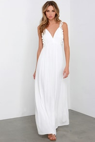 Romantic Realizations Ivory Crochet Maxi Dress at Lulus.com!