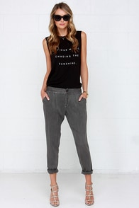 RVCA Sivall Charcoal Grey Pants at Lulus.com!
