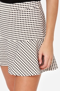 Hip-Notize Me Black and Cream Mini Skirt at Lulus.com!