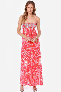 Billabong Dreamed of You Red Print Maxi Dress at Lulus.com!