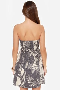 Billabong Ocean View Slate Grey Tropical Print Dress at Lulus.com!