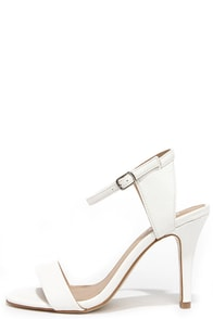 Luxe Lover White High Heel Sandals at Lulus.com!