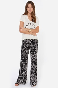 Billabong Keeping Calm Black Southwest Print Pants at Lulus.com!