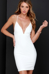 In Haute Water Ivory Bodycon Dress at Lulus.com!