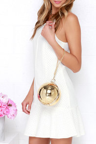 Planetary Prowess Gold Clutch at Lulus.com!
