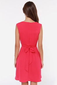 Darling Keeley Hot Pink Dress at Lulus.com!