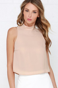We Belong Together Beige Crop Top at Lulus.com!