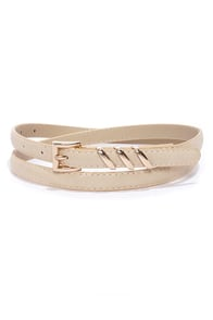 Place Your Belts Light Beige Belt at Lulus.com!