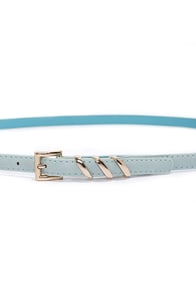 Place Your Belts Mint Blue Belt at Lulus.com!