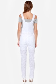 Lucca Couture Bloom Shaka Laka White Lace Overalls at Lulus.com!