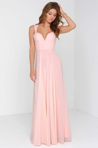 Bariano My Sweetheart Peach Maxi Dress at Lulus.com!