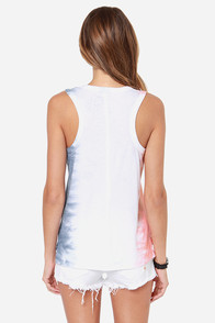 Chaser LA Wreath Tie-Dye Tank Top at Lulus.com!