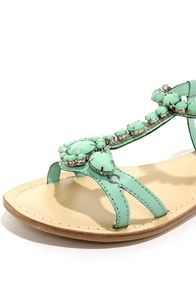 Coconuts Atlantis Turquoise Beaded Sandals at Lulus.com!