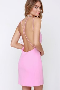 Home At Dawn Pink Backless Dress at Lulus.com!
