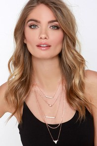 Anything But Ordinary Rose Gold Layered Necklace at Lulus.com!