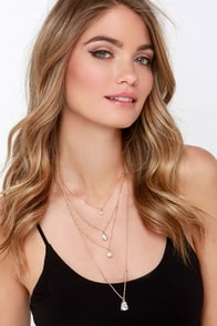 VIP Vixen Gold Layered Necklace at Lulus.com!