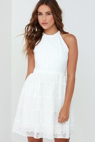 Cloud Dancer Ivory Skater Dress at Lulus.com!