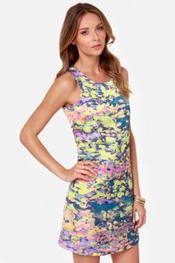 Lavand First Impressionist Print Dress at Lulus.com!