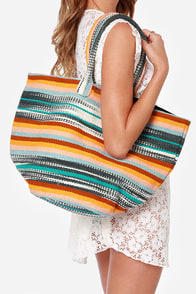 Billabong Celestial Lightz Striped Beach Tote at Lulus.com!