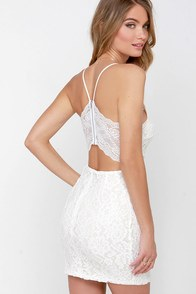 Traveling Menagerie Ivory Lace Dress at Lulus.com!