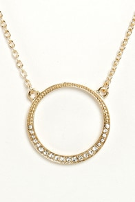 I Get a Round Gold Circle Necklace at Lulus.com!