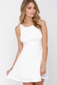 Dream of Fiji Ivory Skater Dress at Lulus.com!