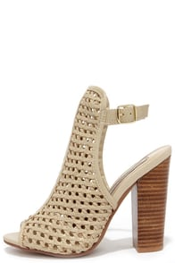 Chinese Laundry Largo Mushroom Woven Peep Toe Booties at Lulus.com!