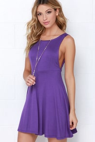 Dream of Fiji Purple Skater Dress at Lulus.com!