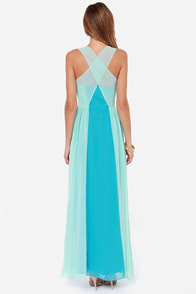 Sunset Serenade Mint and Blue Maxi Dress at Lulus.com!