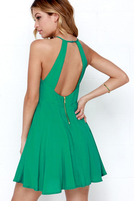 West Coast Swing Green Skater Dress at Lulus.com!