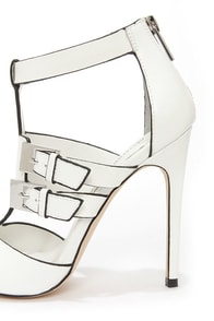 Modern Vice Rio White Cutout High Heel Booties at Lulus.com!