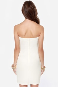 LULUS Exclusive Bodycon and Soul Strapless Ivory Dress at Lulus.com!
