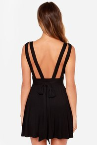 LULUS Exclusive World Go 'Round Black Dress at Lulus.com!
