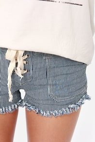 Others Follow Sidetrack Striped Cutoff Shorts at Lulus.com!