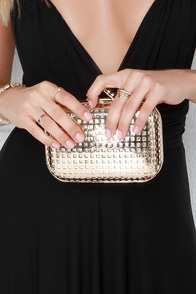 Light Up the Room Gold Clutch at Lulus.com!