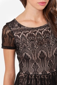 Black Swan Scarlett Black Lace Dress at Lulus.com!