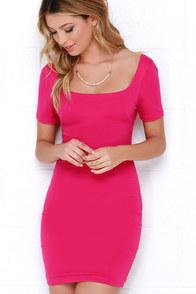 First Lady Fuchsia Bodycon Dress at Lulus.com!