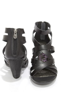 Blowfish Enola Black Strappy High Heel Sandals at Lulus.com!