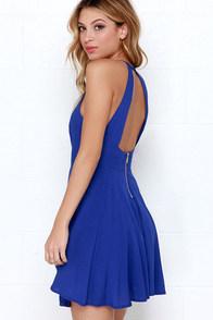 West Coast Swing Royal Blue Skater Dress at Lulus.com!