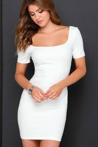 First Lady Ivory Bodycon Dress at Lulus.com!