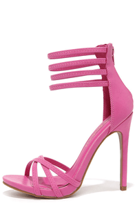 On the Prowl Fuchsia Ankle Strap Heels at Lulus.com!