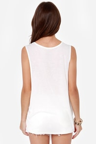 Volcom Breezy Ivory Zebra Print Muscle Tee at Lulus.com!
