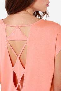 Volcom Get Low Cutout Coral Top at Lulus.com!