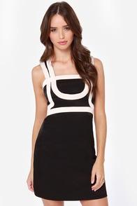 International Intrigue Beige and Black Dress at Lulus.com!