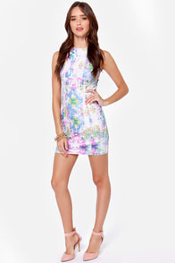 Firework It Print Bodycon Dress at Lulus.com!
